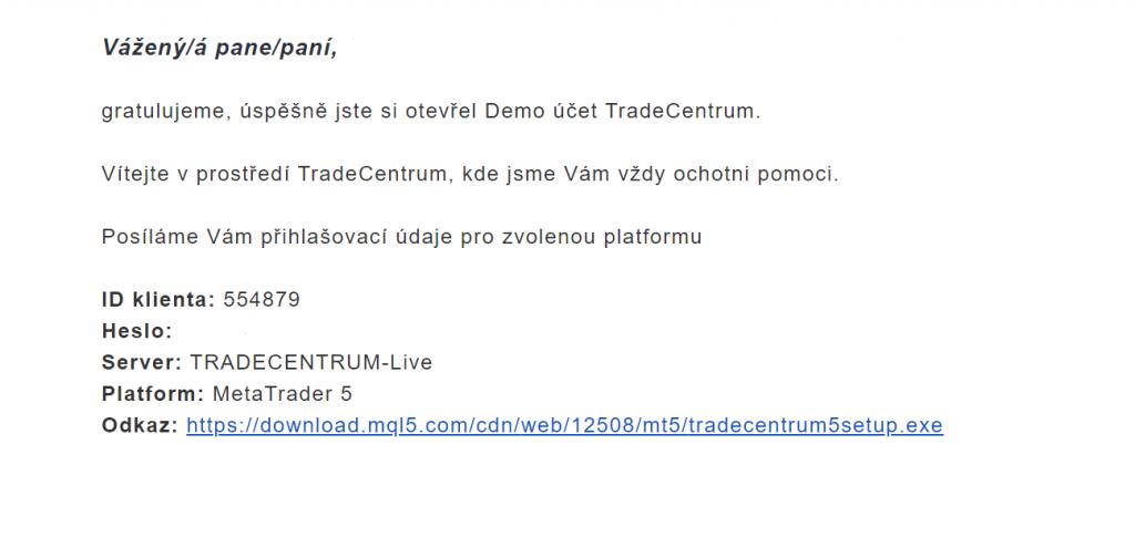 tradecentrum demo účet