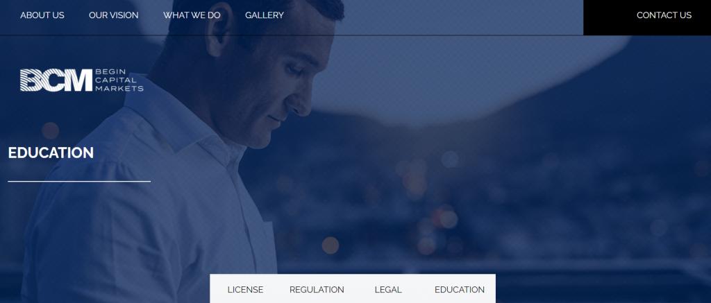BCM Begin Capital Markets - webová stránka